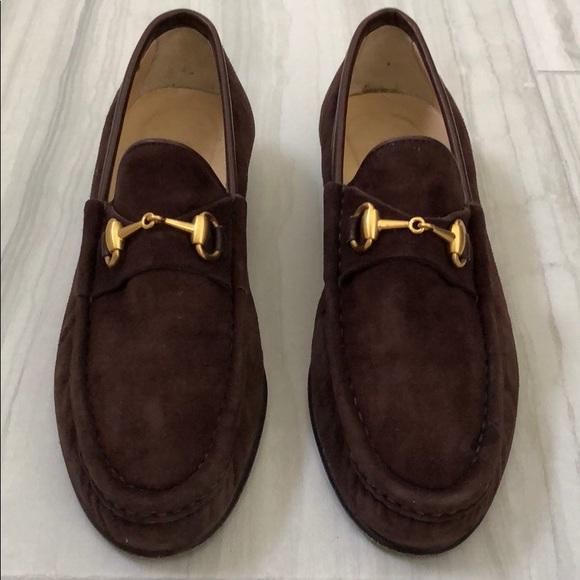 fd464274dfc Gucci Shoes - Vintage Gucci Horsebit Suede Loafers Women s.